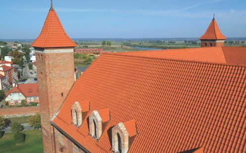 Teutonic Castle in Gniew Poland with Karthago roof tile