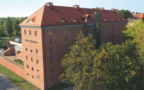 Hotel Bulwar in Torun Poland in old military barracks in Torun Poland with natural red beaver roof tile