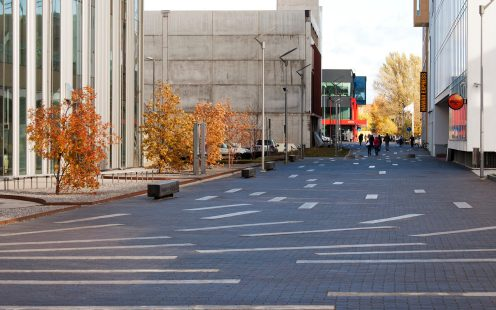 Design for Aida and Põhja streets in Pärnu, Estonia. Used materials: Penter Dresden pavers.