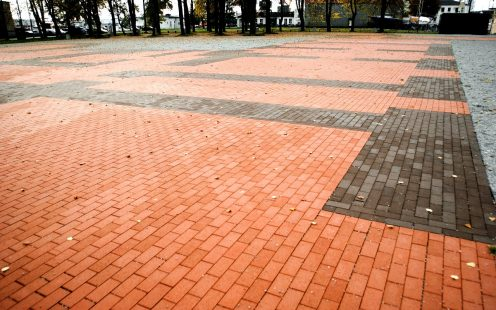 Old Castle square, reconstruction, STT Red brushed, STT Terra brushed